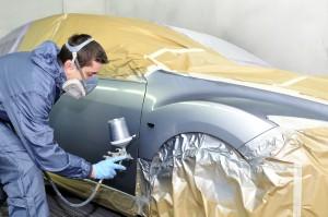 Auto body paint job